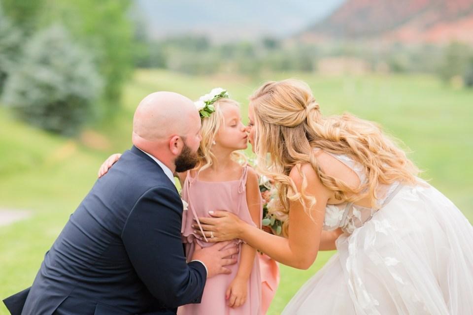 vows to daughter colorado wedding