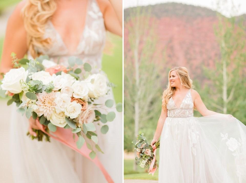 BHLDN wedding dress colorado wedding