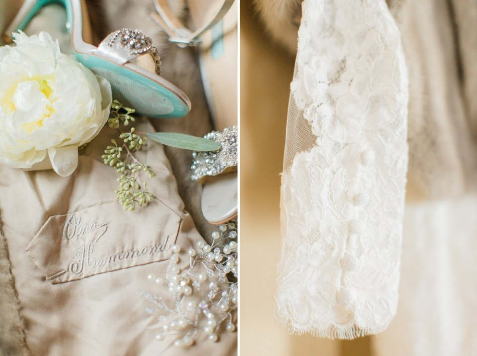 The Corinthian Wedding Bride Details by Cotton Collective