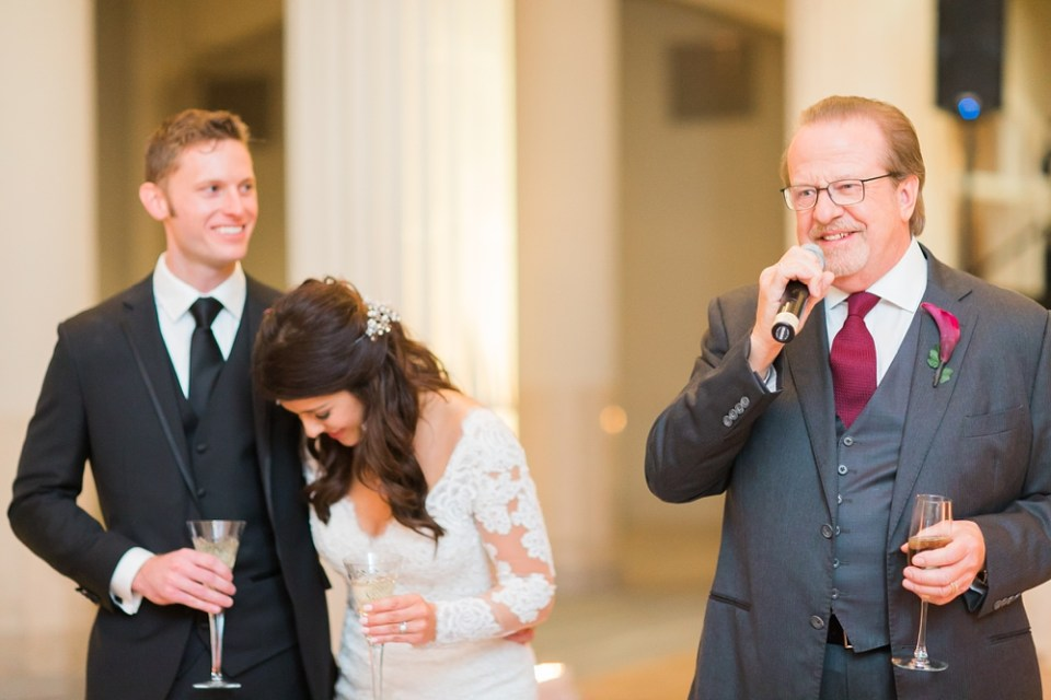 The Corinthian Wedding Toast by Bride Father