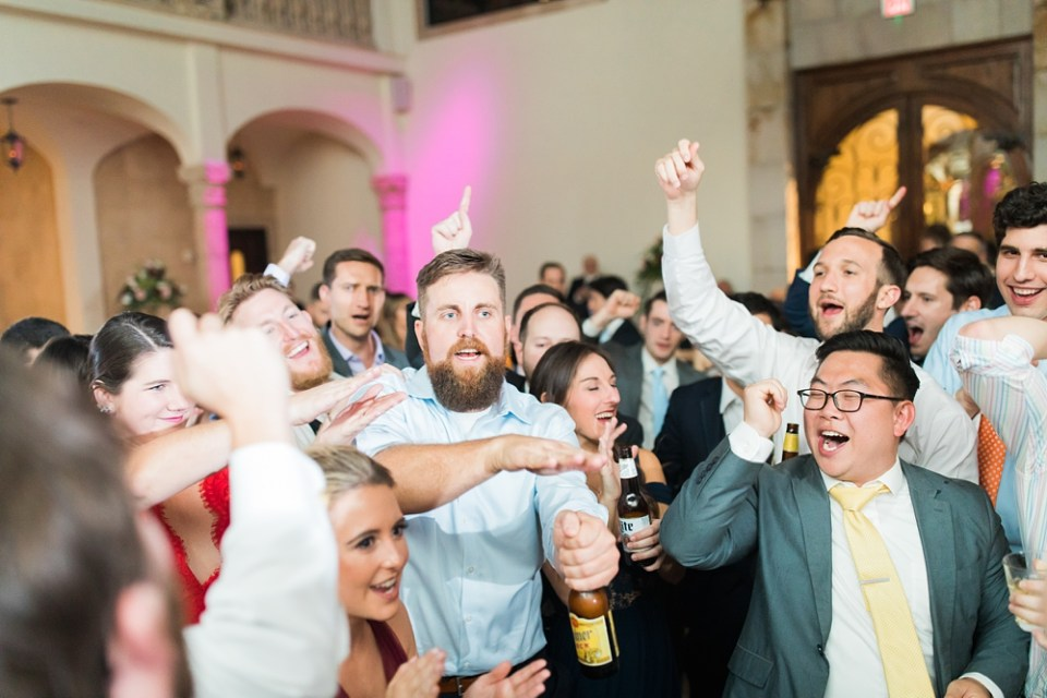 dancing at bell tower wedding