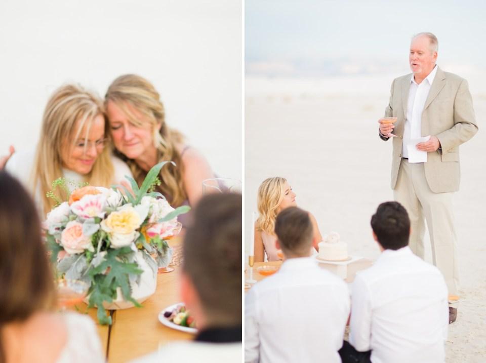 White Sands Wedding Toast
