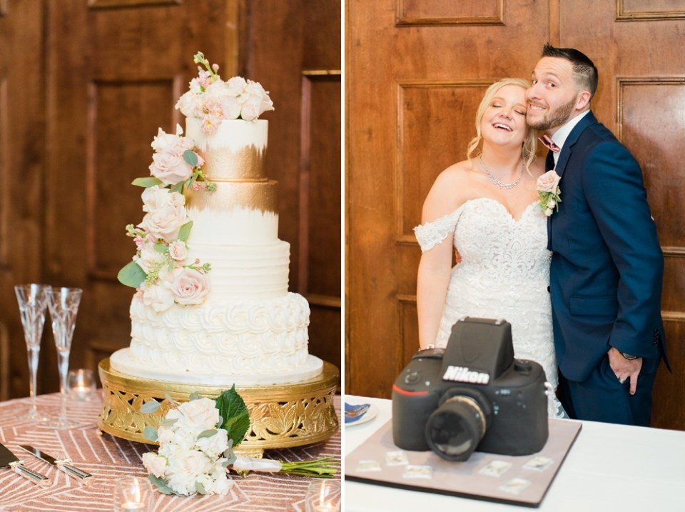 cake details at wedding