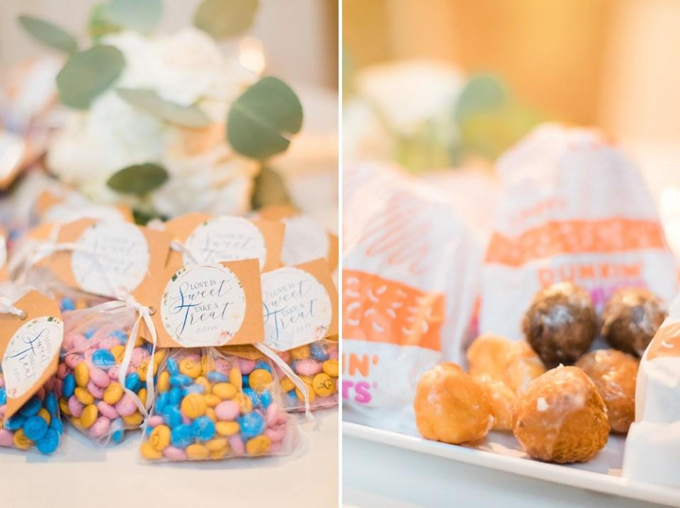 dessert details at wedding reception