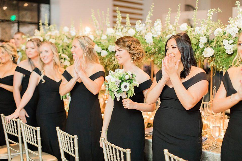 bridesmaid at wedding reception