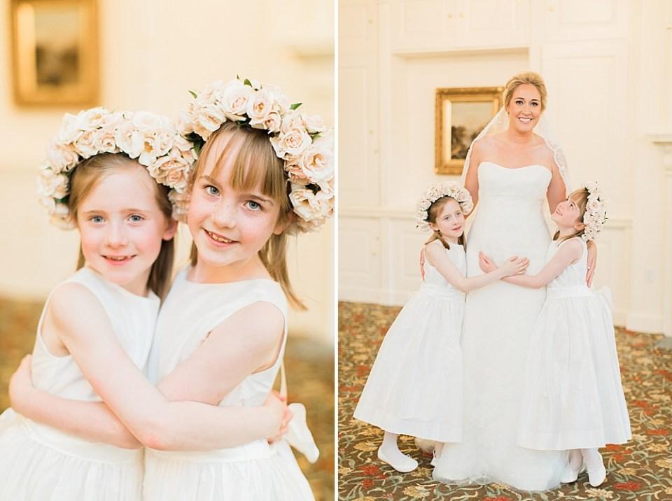 houston bride and flower girls