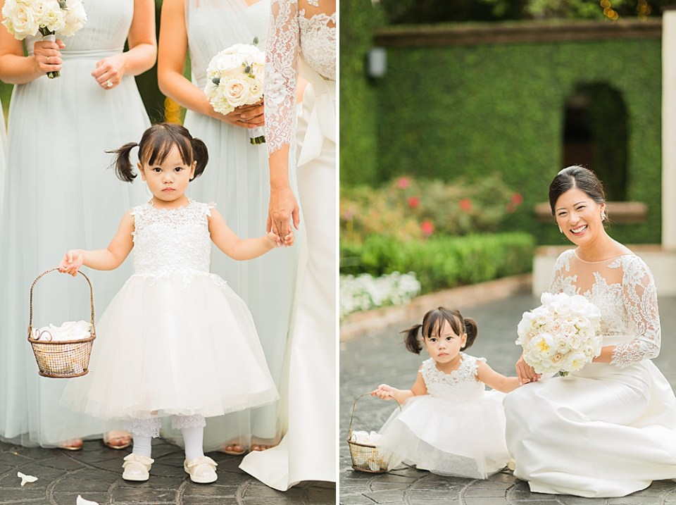 houston bride and flower girls