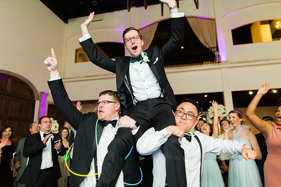 fun groom at wedding reception