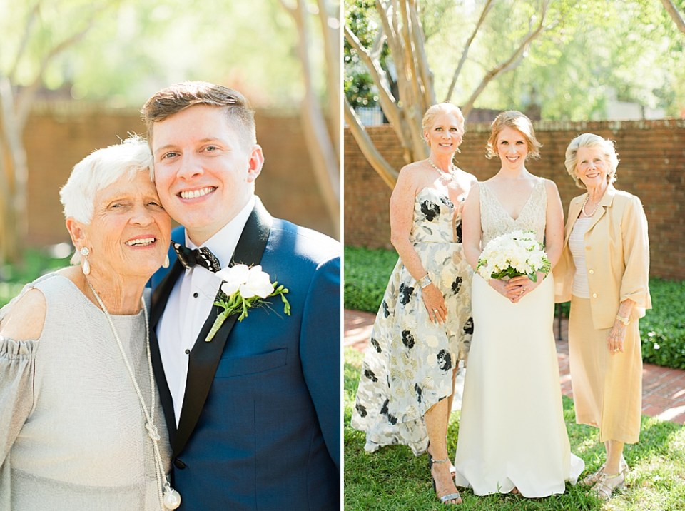 groom and grandmother on wedding