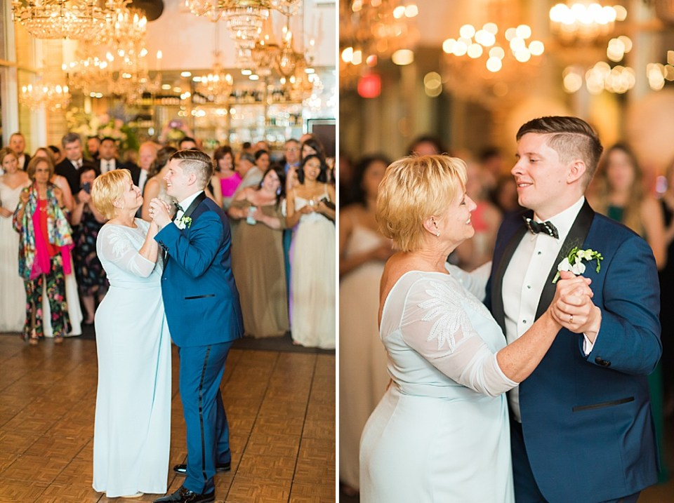 mother and groom first dance