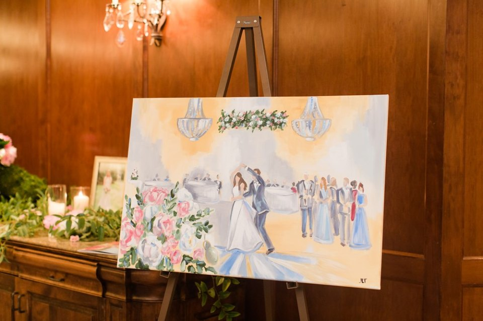 houston wedding live paiting