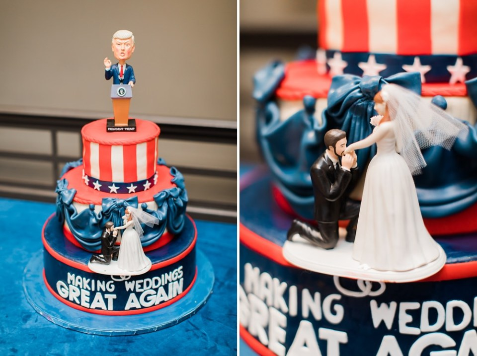 make wedding great again wedding cake