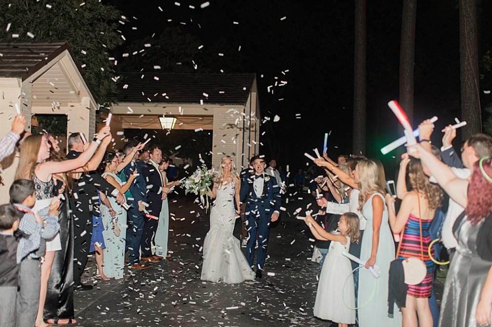 bride and groom wedding exit