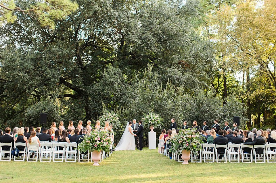 Houstonian Outdoor Wedding