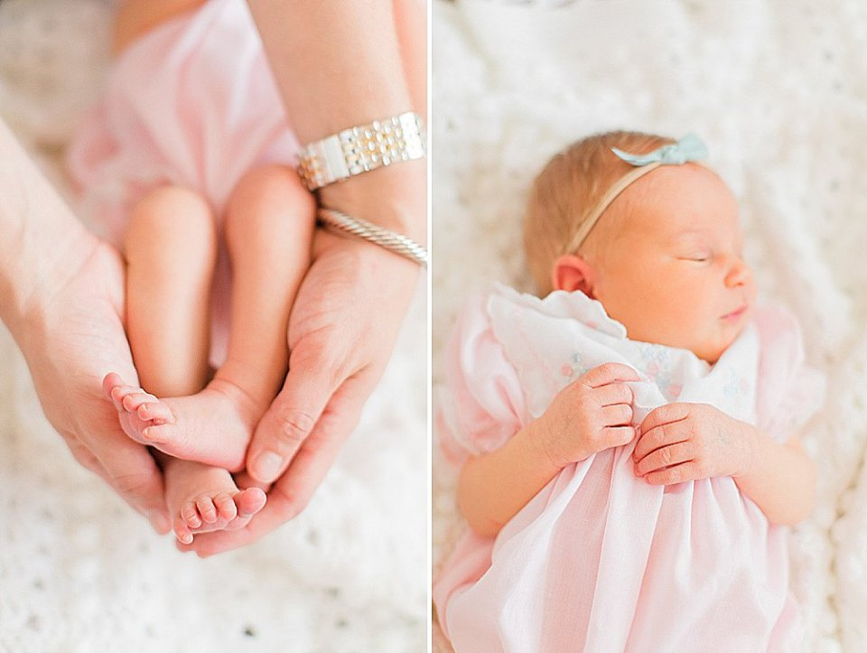 lifestyle newborn session in Houston