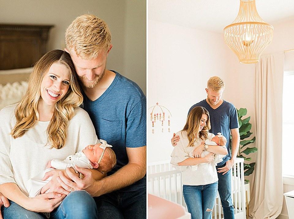 Houston newborn girl nursery
