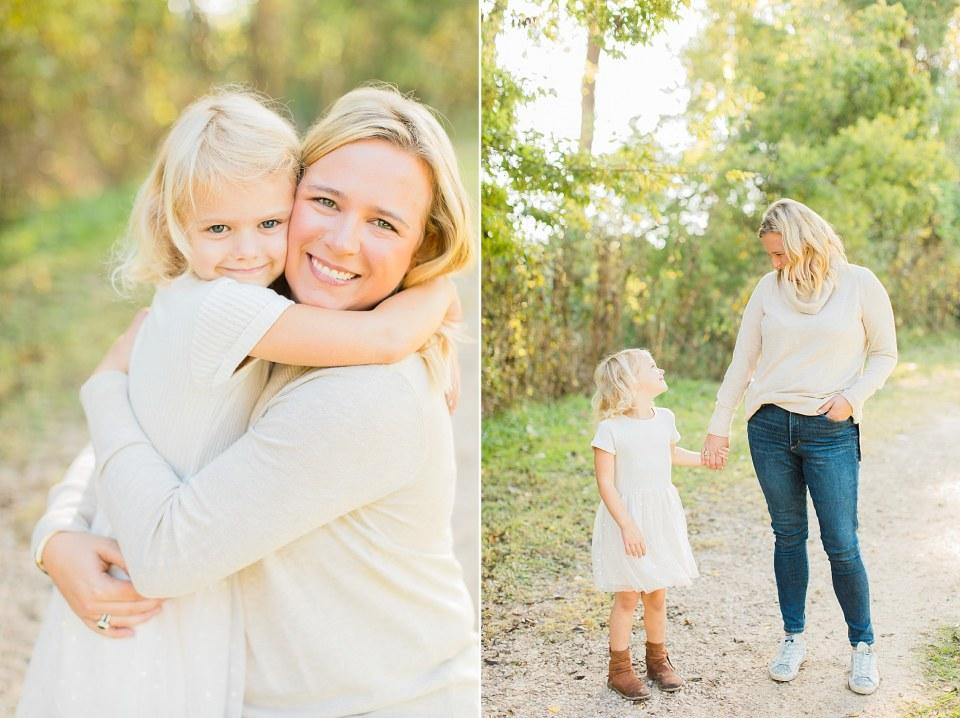 mother daughter outdoor photos
