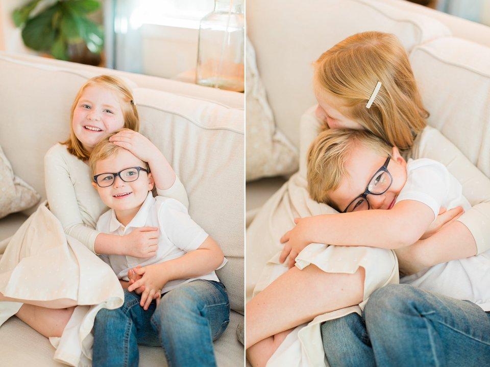 Houston family photos siblings