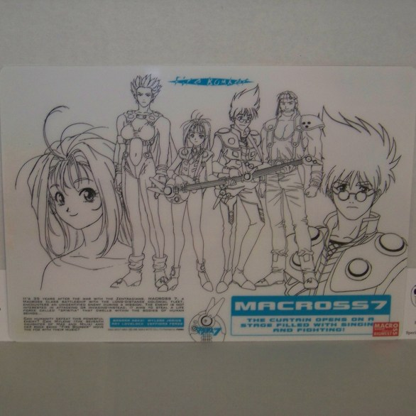 Macross 7 Pencil Board Shitajiki Fire Bomber Mylene Jenius