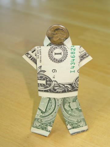 Paper Money Origami With American Dollar Bills Shirt