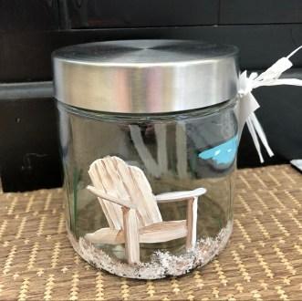 Beach Chair Hand Painted Jar