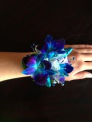 Blue Orchid with Bling