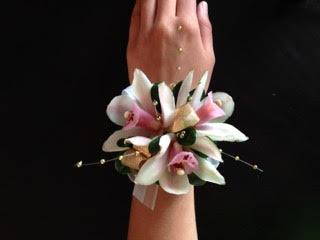 Mini Cymbidum Orchid and pearls