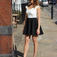 Birthday Outfit: Off the shoulder skater dress