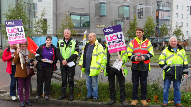 Another UCU strike action, this one in East Anglia University.
