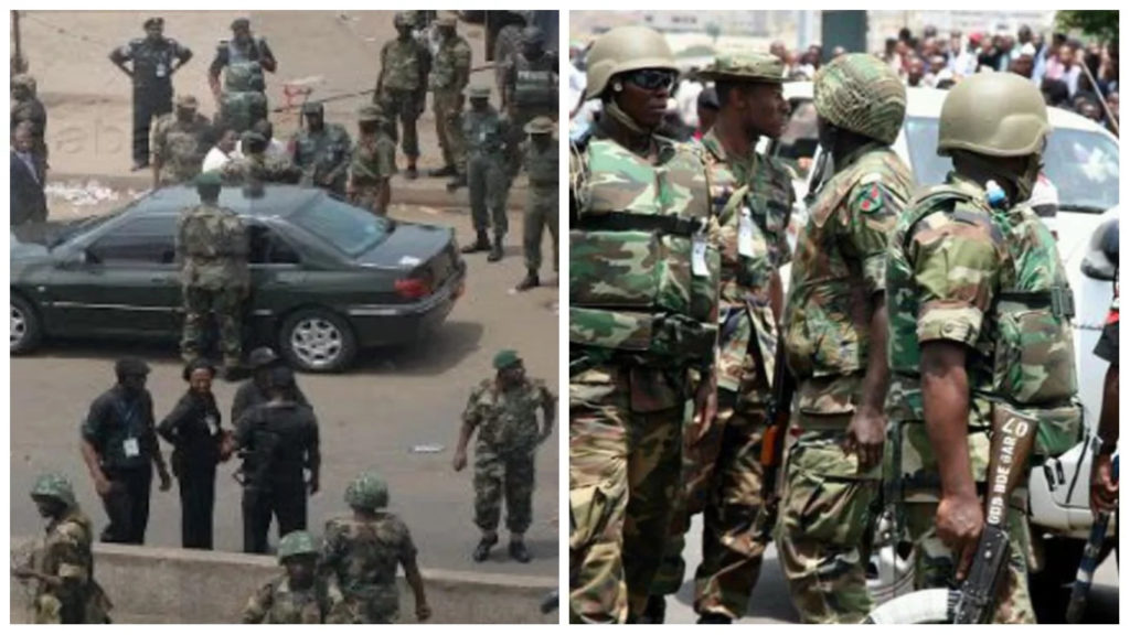 Was the Nigerian military right to open fire on personnel of the Nigerian Police Force?