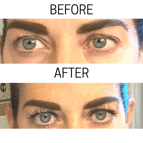 Dawn's before and after with the new huda beauty mascara