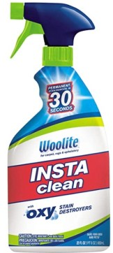Woolite INSTAclean instantly took the stain out. Five Things Friday Part 23