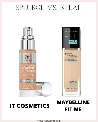 It Cosmetics Vs Maybelline Fit Me. Splurge vs steal