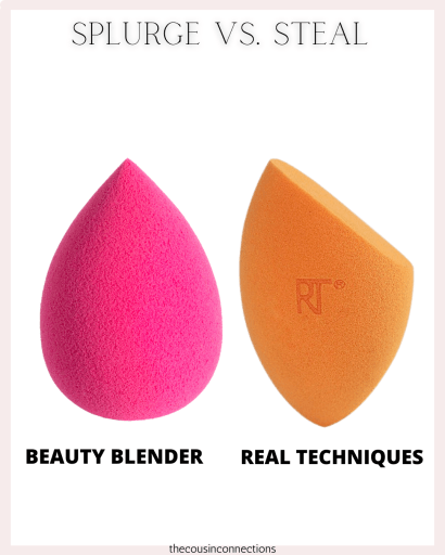 the original beauty blender vs. real techniques... both are great but one is definitely cheaper!!