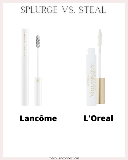 Lash primer!! splurge vs.steal. both are good but Lancome really is GREAT