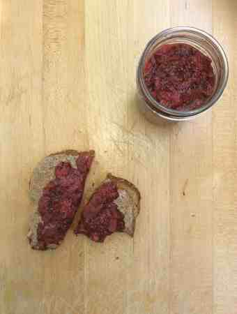 Strawberry-rhubarb chia jam