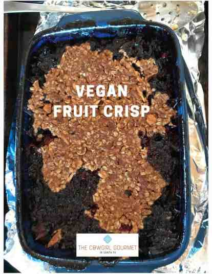 vegan fruit crisp
