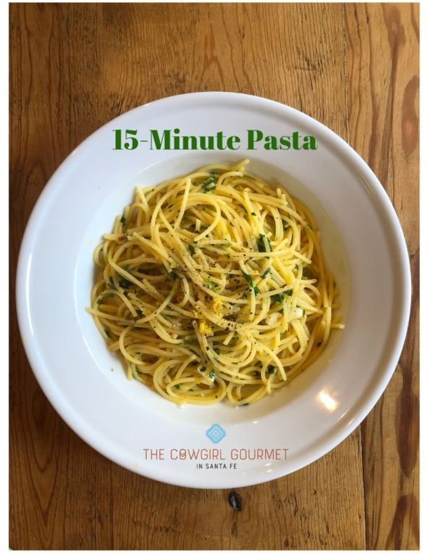 15 minute pasta plated