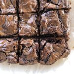 Nutella brownies cut up and close up