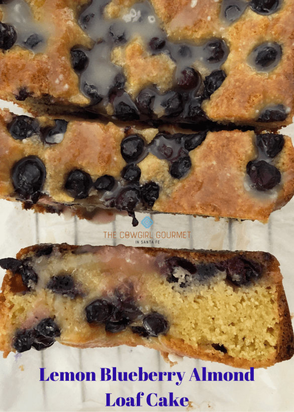 Lemon Blueberry Almond Loaf Cake