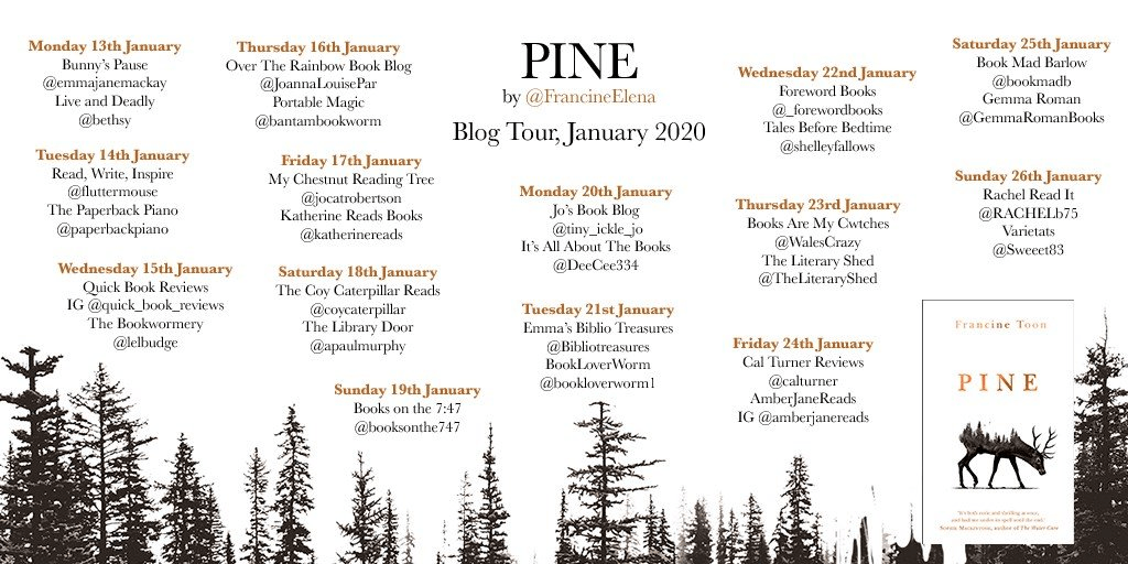 Pine BT Poster  - Book Review: Pine by Francine Toon