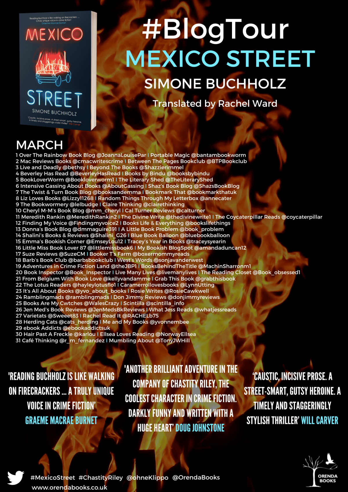 Mexico Street BT Poster - Blog Tour: Mexico Street (Chas Riley #8) by Simone Buchholz