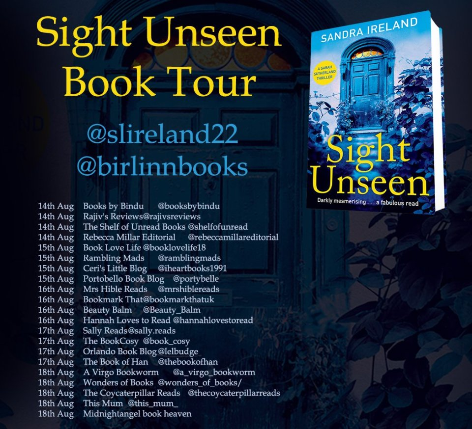 Sight Unseen insta 2 - Sight Unseen by Sandra Ireland | Blog Tour
