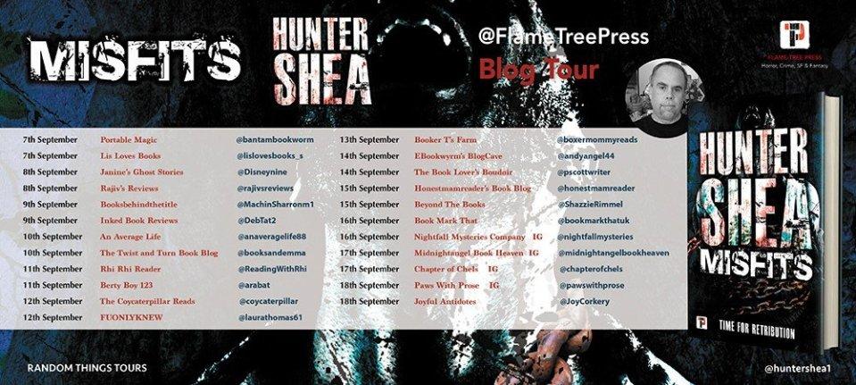 Misfits BT Poster - Misfits by Hunter Shea | Blog Tour