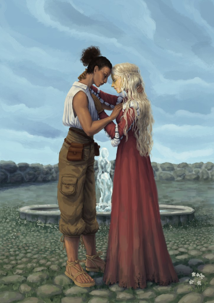 Gilea and Temi 724x1024 - Cover Reveal: The Living Waters by Dan Fitzgerald