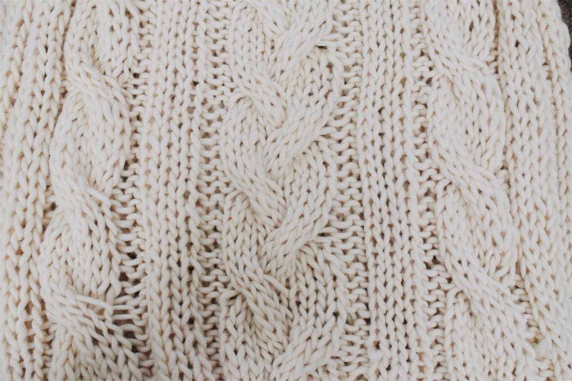 Big, Cozy Braided Knit Blanket + FREE Knitting Pattern   THE COZIE BLOG