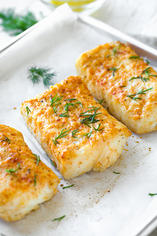 Healthy Baked Halibut