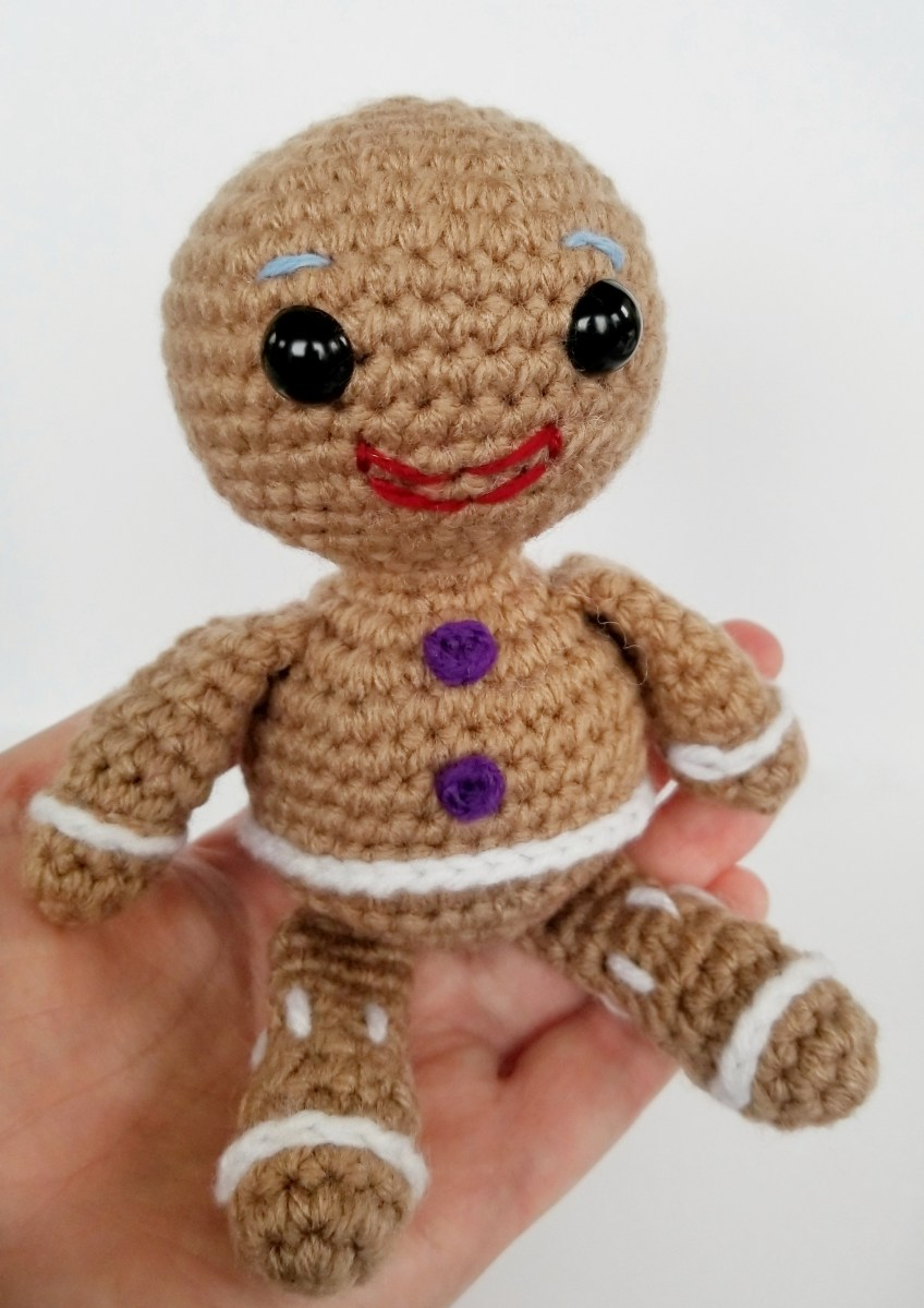 Not My Gumdrop Buttons! Free Gingerbread Man Pattern