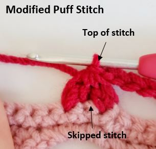 Modified Puff Stitch