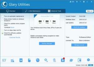 Glary Utilities Pro 5.139.0.165 Crack + Keygen Free Download